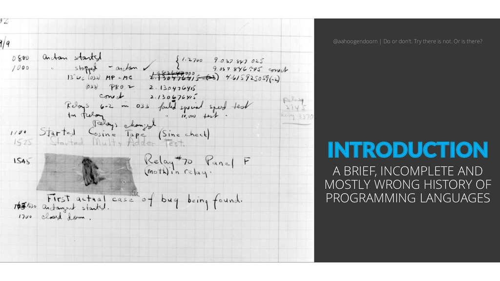 INTRODUCTION A BRIEF, INCOMPLETE AND MOSTLY WRO...