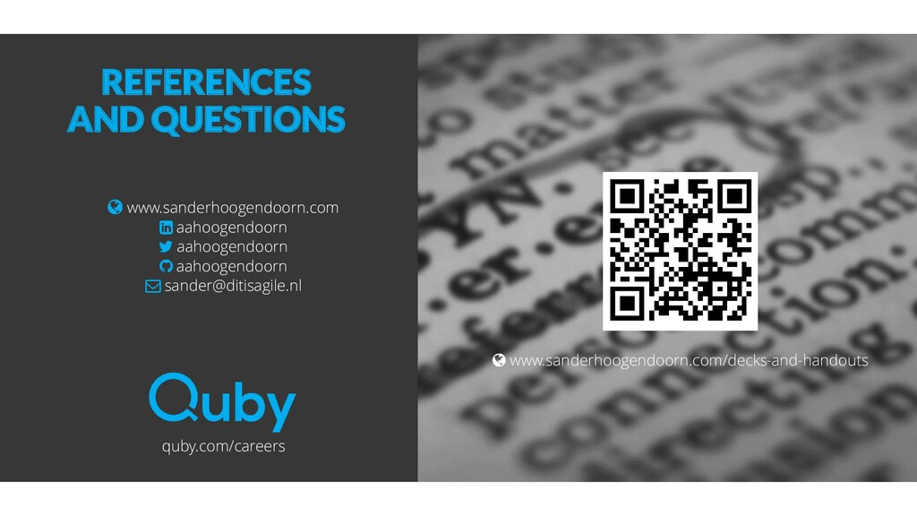 REFERENCES AND QUESTIONS www.sanderhoogendoorn....