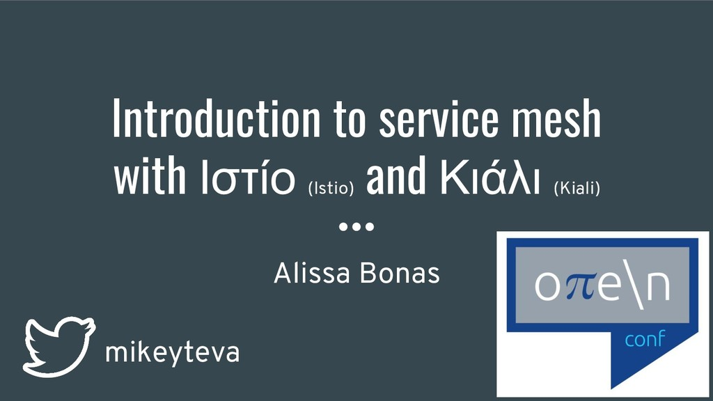 Introduction to service mesh with Ιστίο (Istio)...
