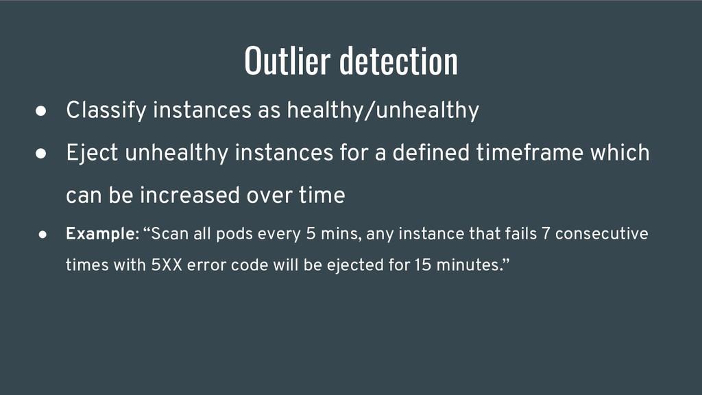 Outlier detection ● Classify instances as healt...