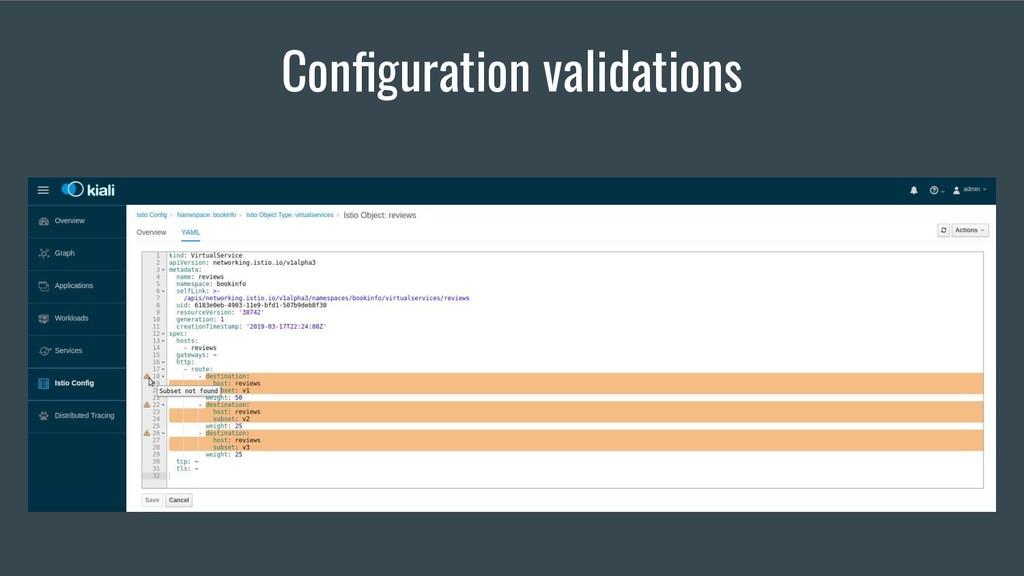 Configuration validations