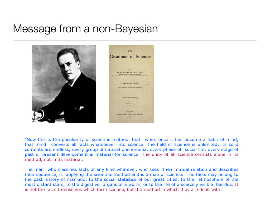"""Message from a non-Bayesian """"Now this is the pe..."""