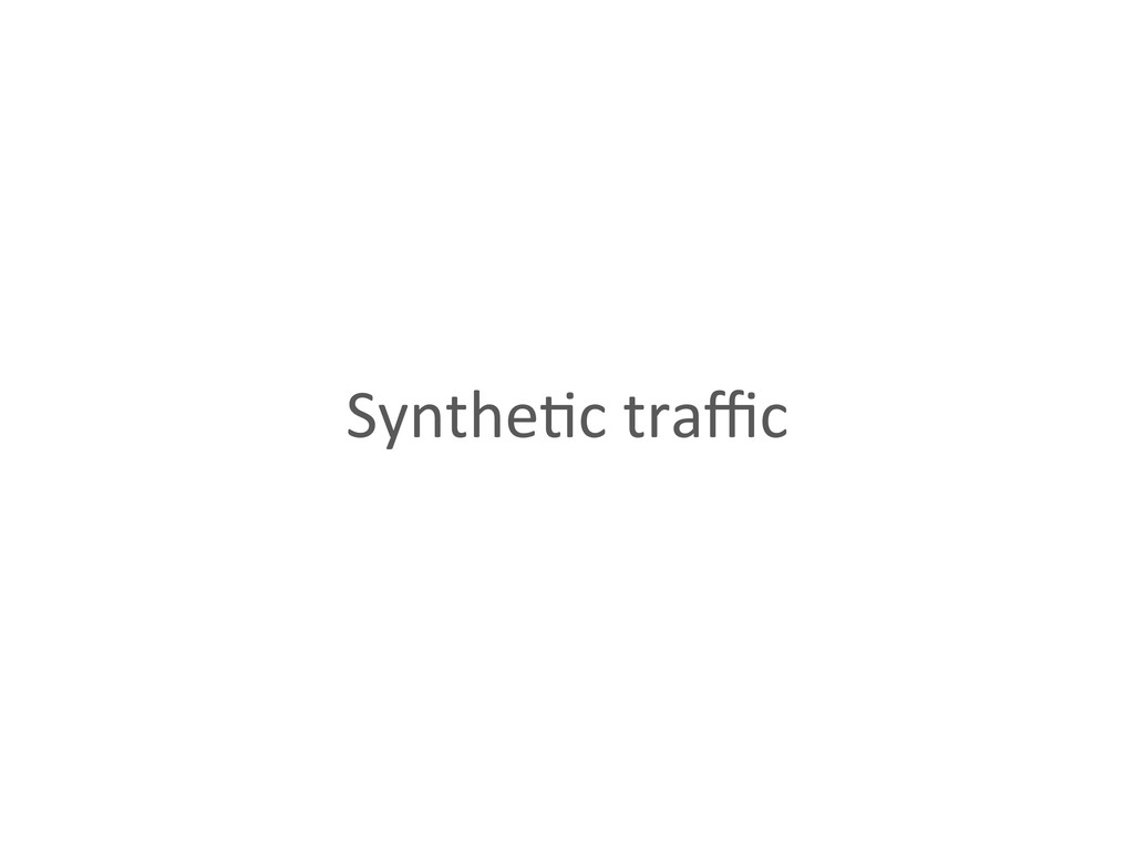 Synthe%c traffic