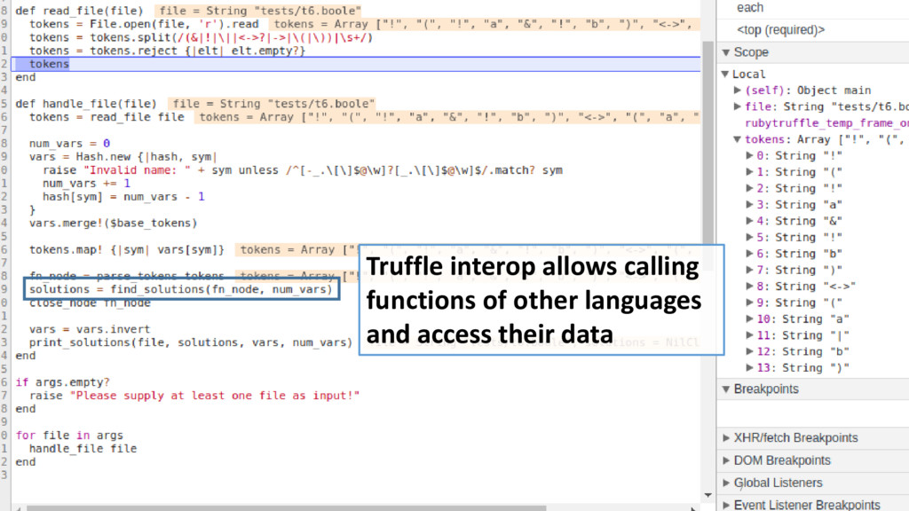 7 Truffle interop allows calling functions of o...