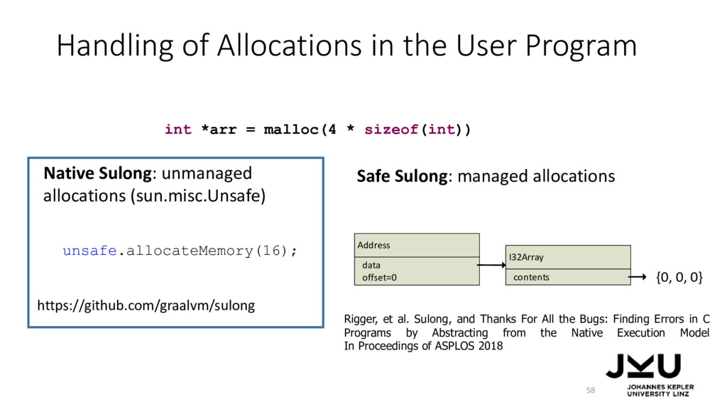 Handling of Allocations in the User Program 58 ...