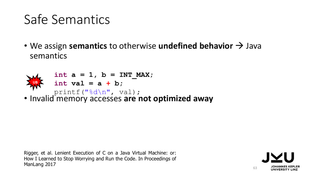 Safe Semantics • We assign semantics to otherwi...