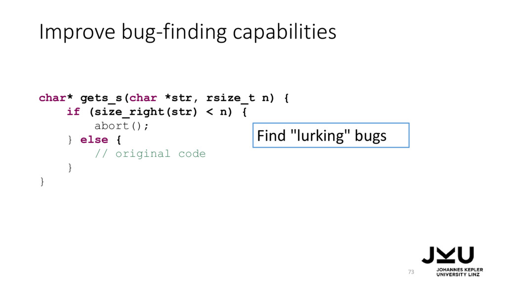 "Improve bug-finding capabilities 73 Find ""lurki..."