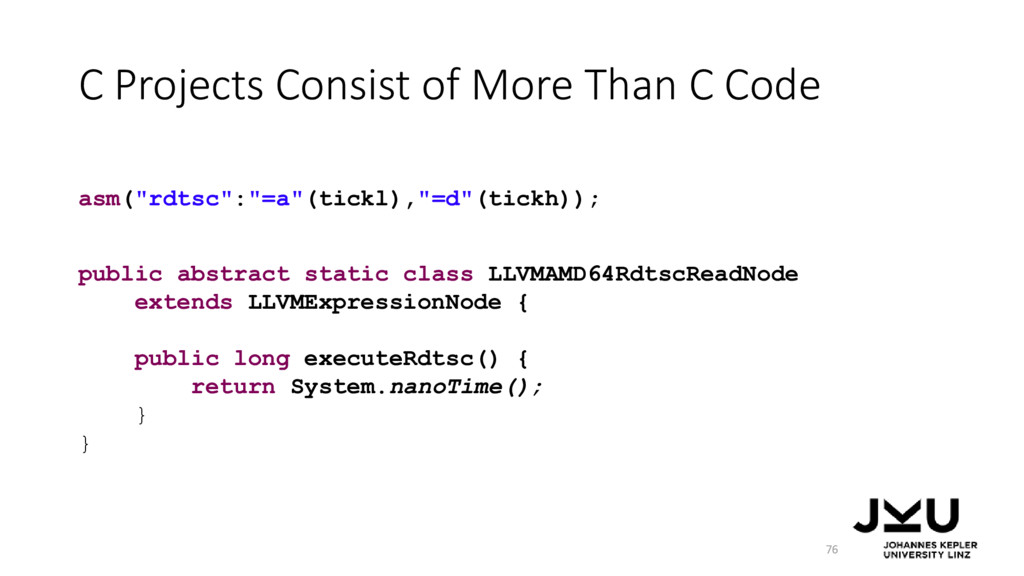 C Projects Consist of More Than C Code 76 publi...