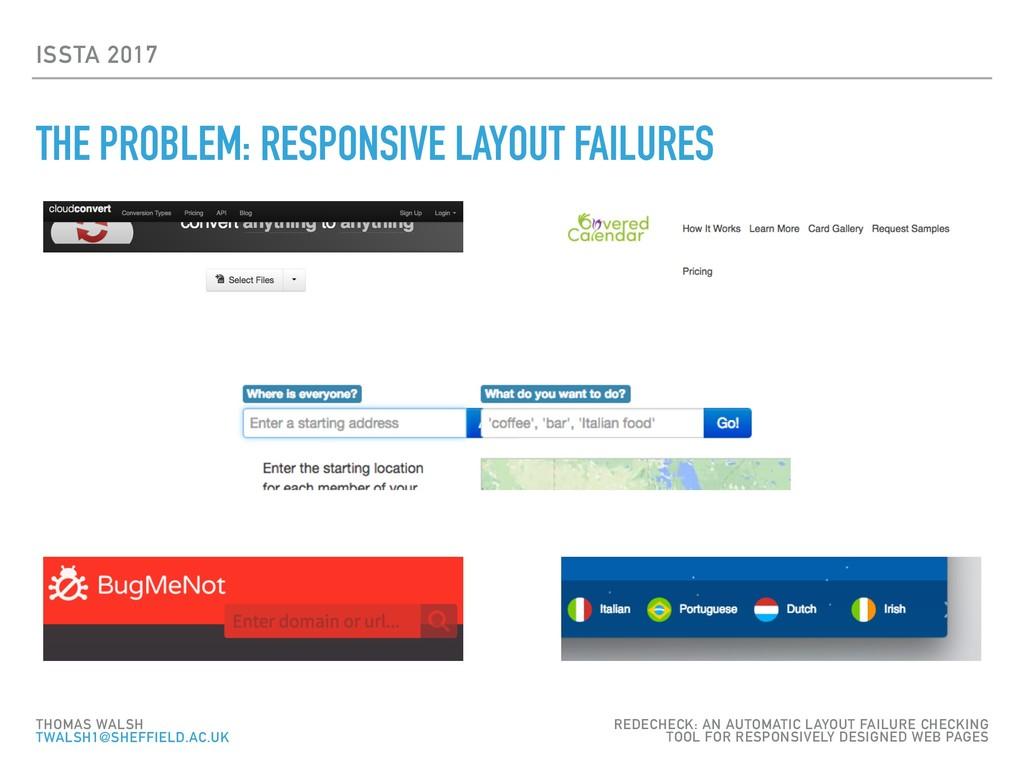 ISSTA 2017 THE PROBLEM: RESPONSIVE LAYOUT FAILU...