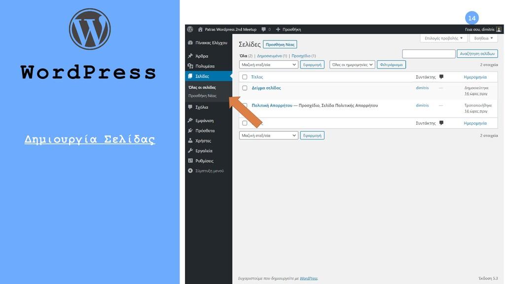 14 WordPress Δημιουργία Σελίδας