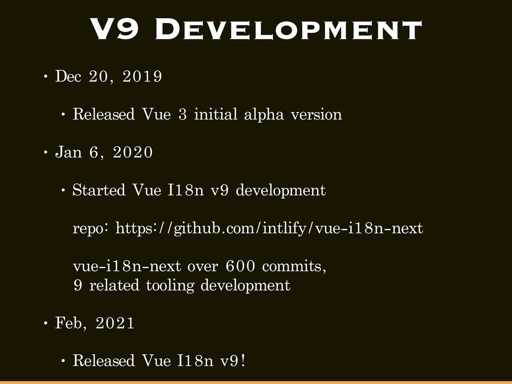 V9 Development • Dec 20, 2019 • Released Vue 3 ...
