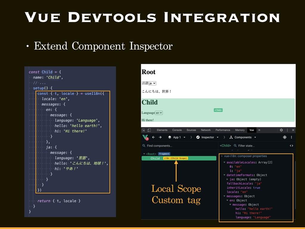 Vue Devtools Integration • Extend Component Ins...