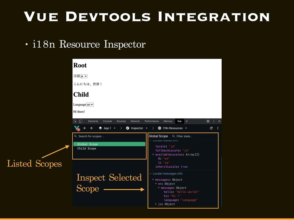 Vue Devtools Integration • i18n Resource Inspec...