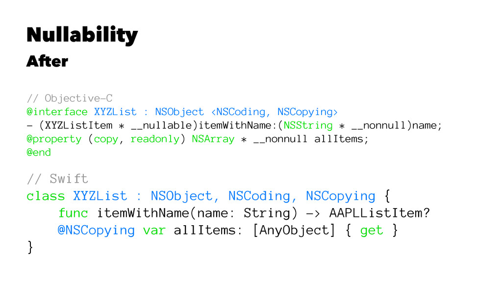 Nullability After // Objective-C @interface XYZ...
