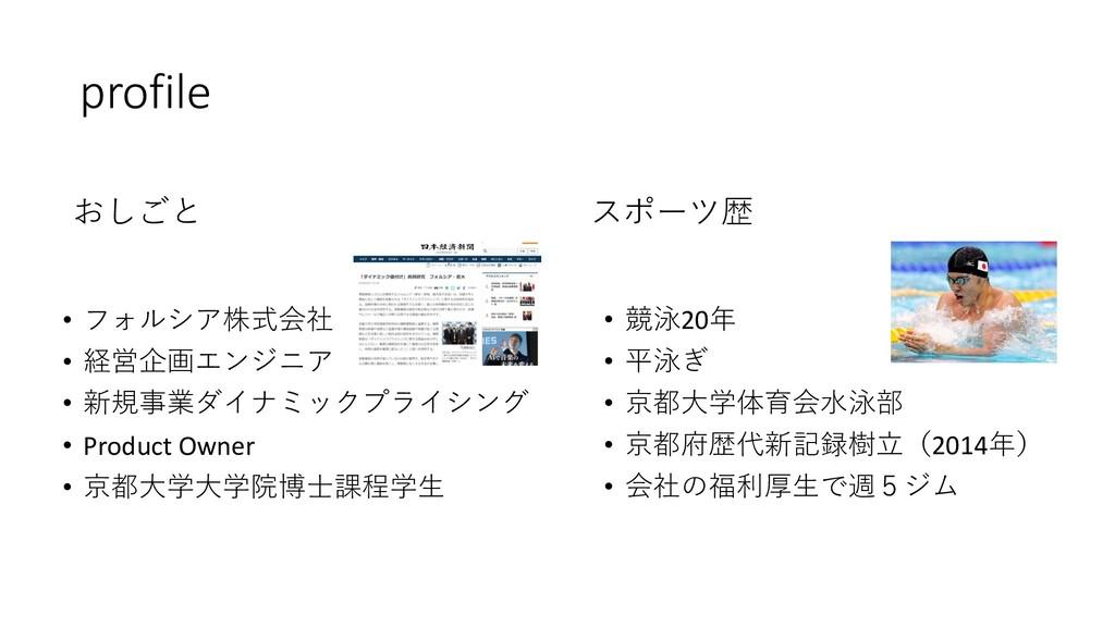 profile • フォルシア株式会社 • 経営企画エンジニア • 新規事業ダイナミックプライ...