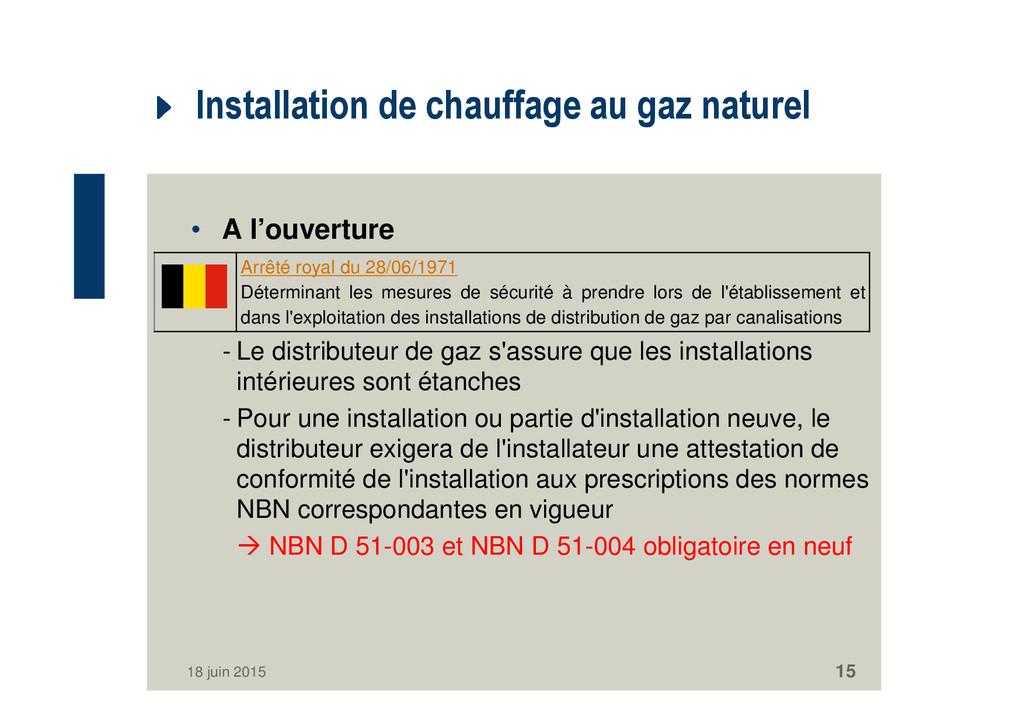 Installation de chauffage au gaz naturel • A l'...
