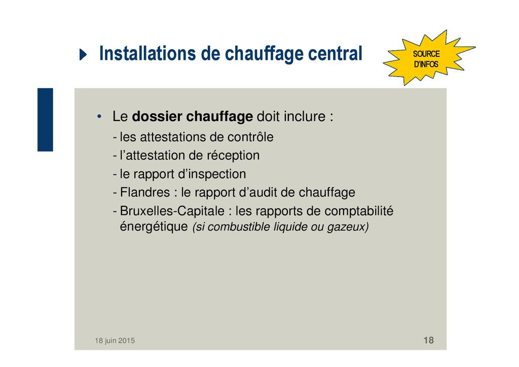 Installations de chauffage central • Le dossier...