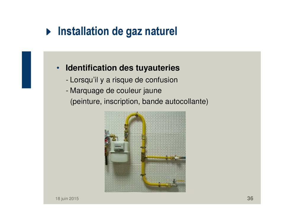 Installation de gaz naturel • Identification de...