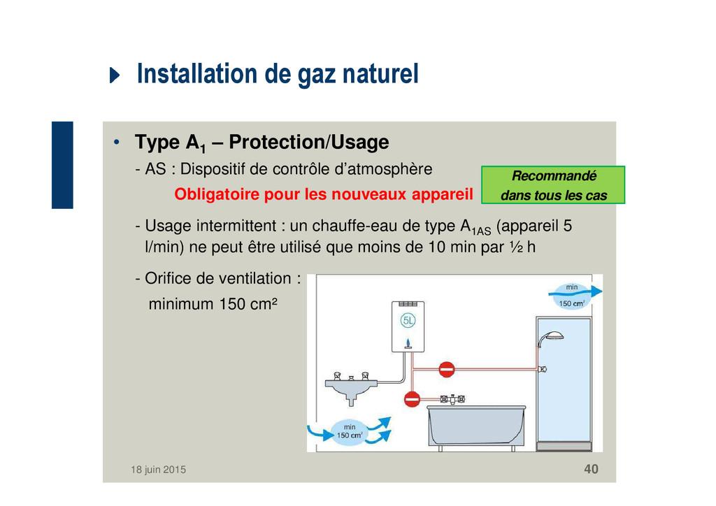 Installation de gaz naturel • Type A1 – Protect...
