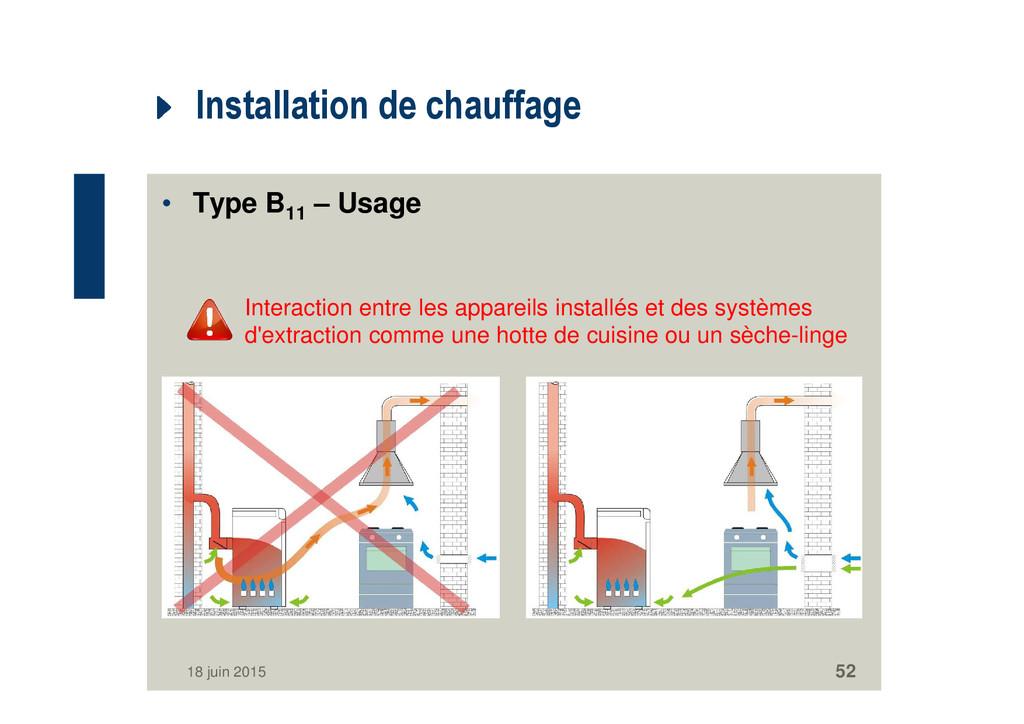 Installation de chauffage • Type B11 – Usage In...
