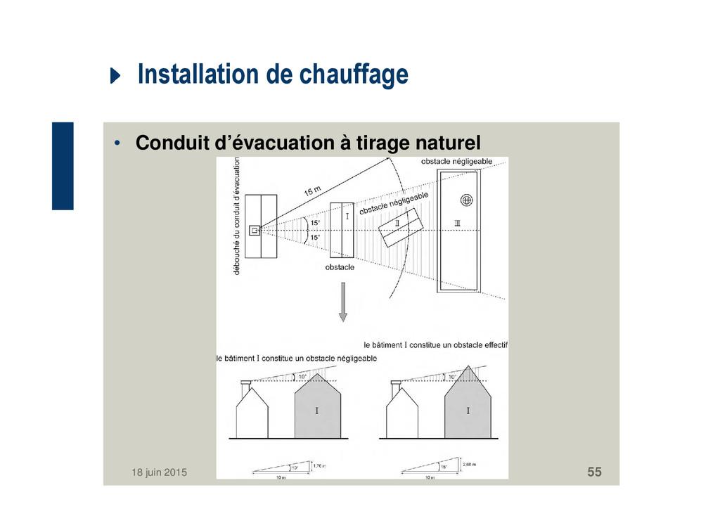 Installation de chauffage • Conduit d'évacuatio...
