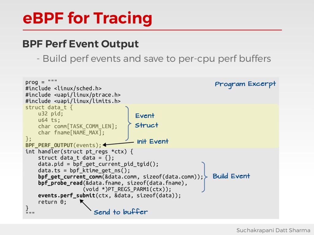 eBPF for Tracing Suchakrapani Datt Sharma BPF P...