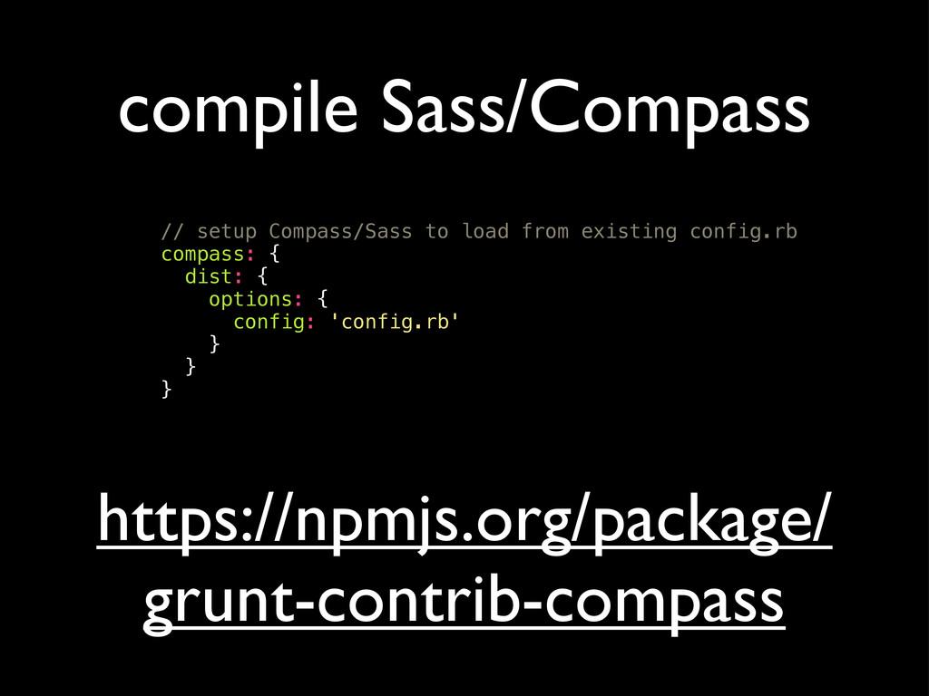 compile Sass/Compass // setup Compass/Sass to l...