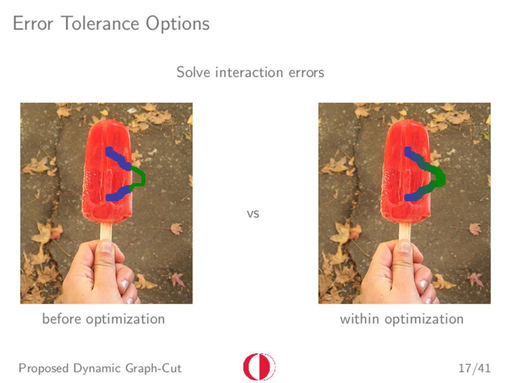 Error Tolerance Options Solve interaction error...