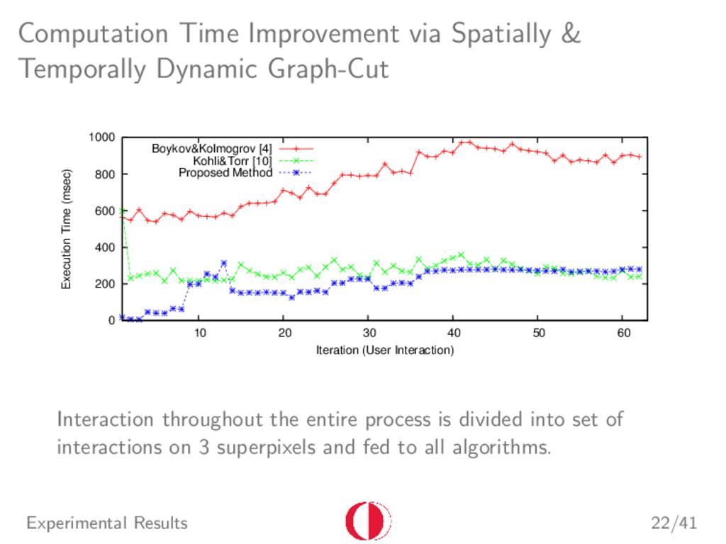 Computation Time Improvement via Spatially & Te...