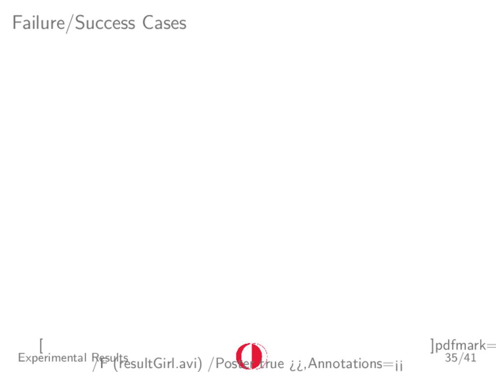 Failure/Success Cases [ ]pdfmark= /F (resultGir...