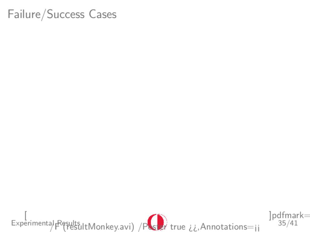 Failure/Success Cases [ ]pdfmark= /F (resultMon...