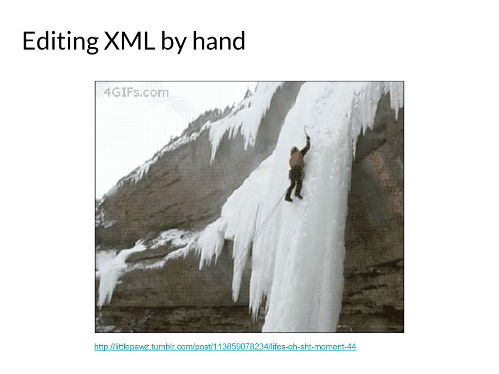 Editing XML by hand http://littlepawz.tumblr.co...