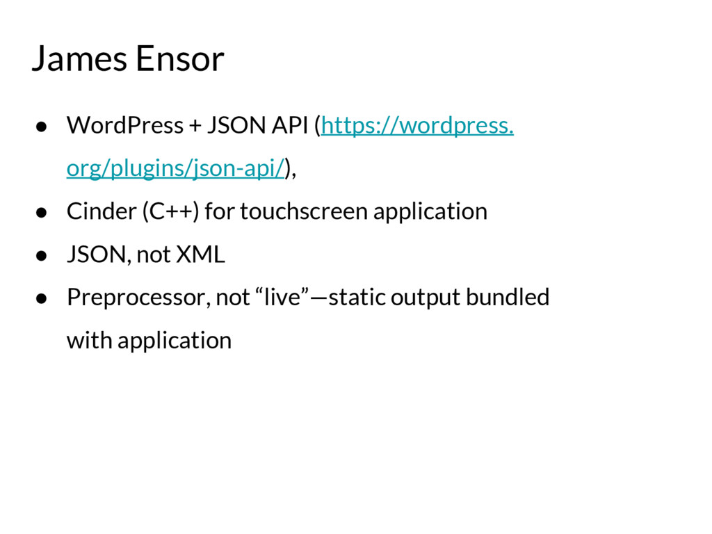 James Ensor ● WordPress + JSON API (https://wor...