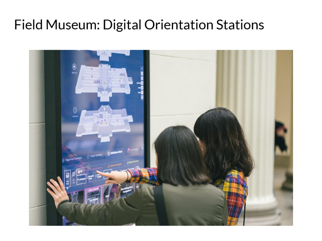 Field Museum: Digital Orientation Stations