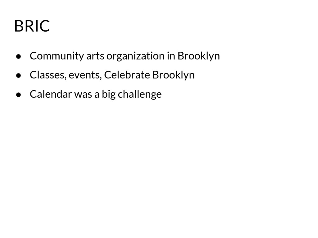 ● Community arts organization in Brooklyn ● Cla...