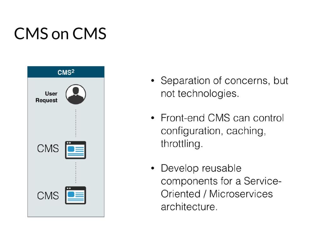 CMS on CMS