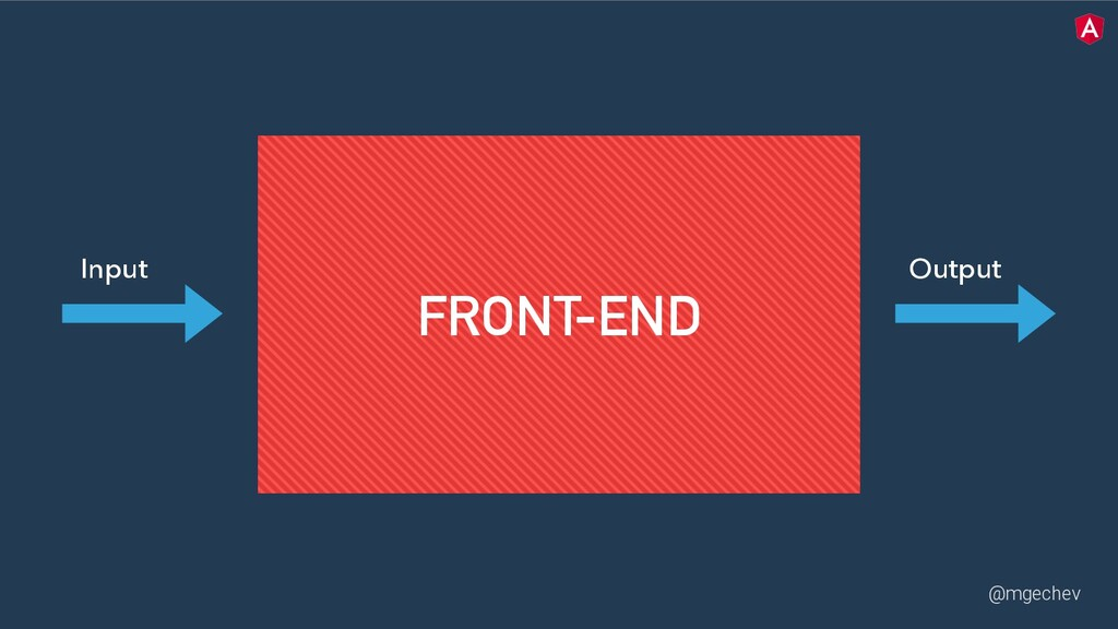 @mgechev Input Output FRONT-END