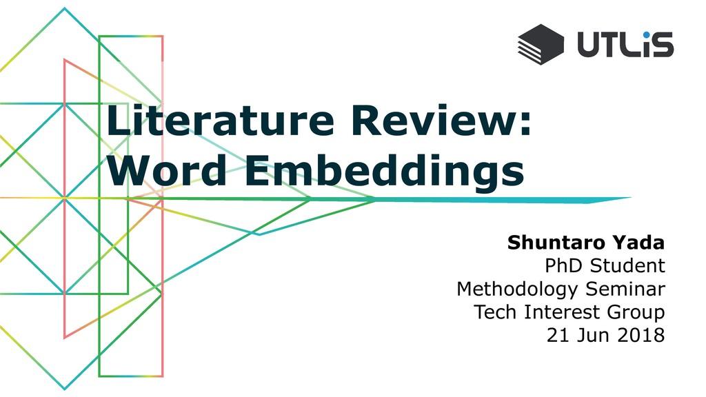Shuntaro Yada PhD Student Methodology Seminar T...