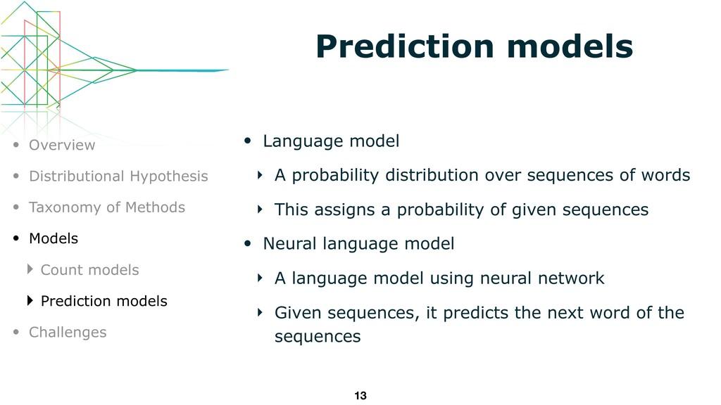 Prediction models • Language model ‣ A probabil...