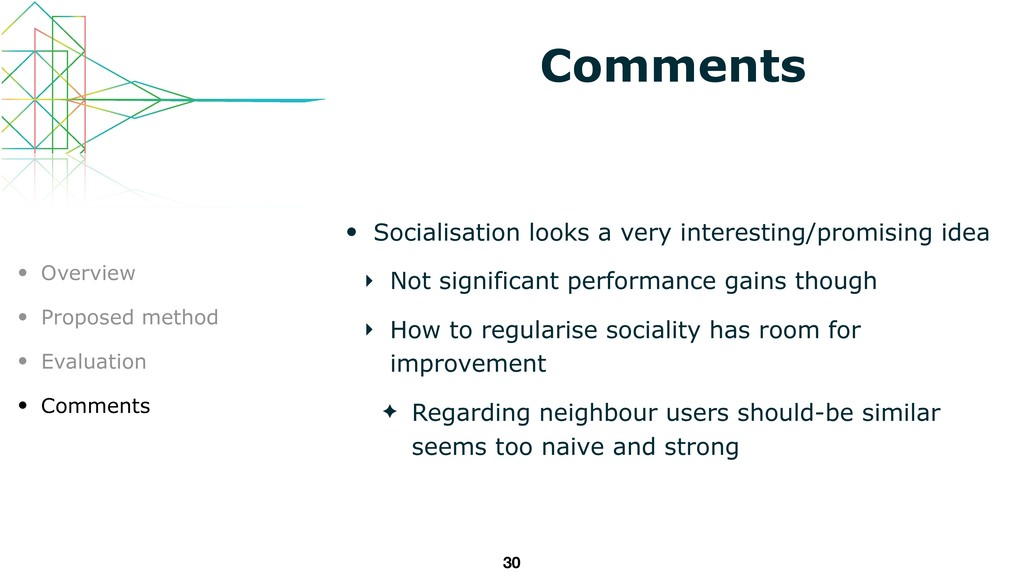 Comments • Socialisation looks a very interesti...