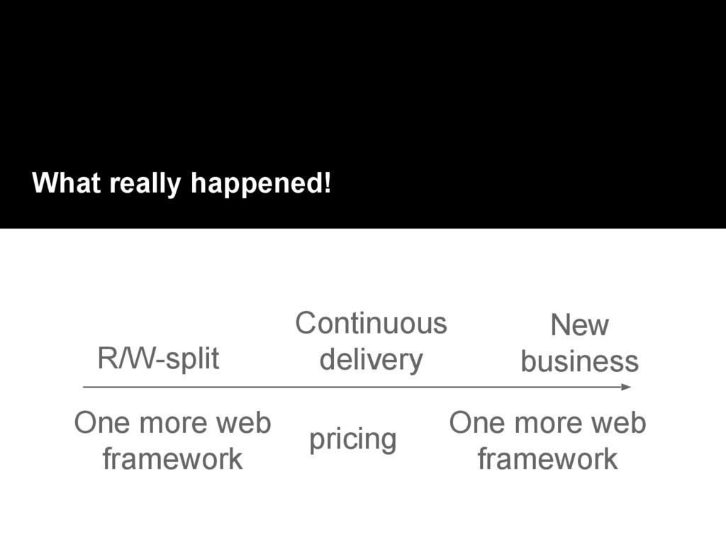 What really happened! One more web framework Ne...