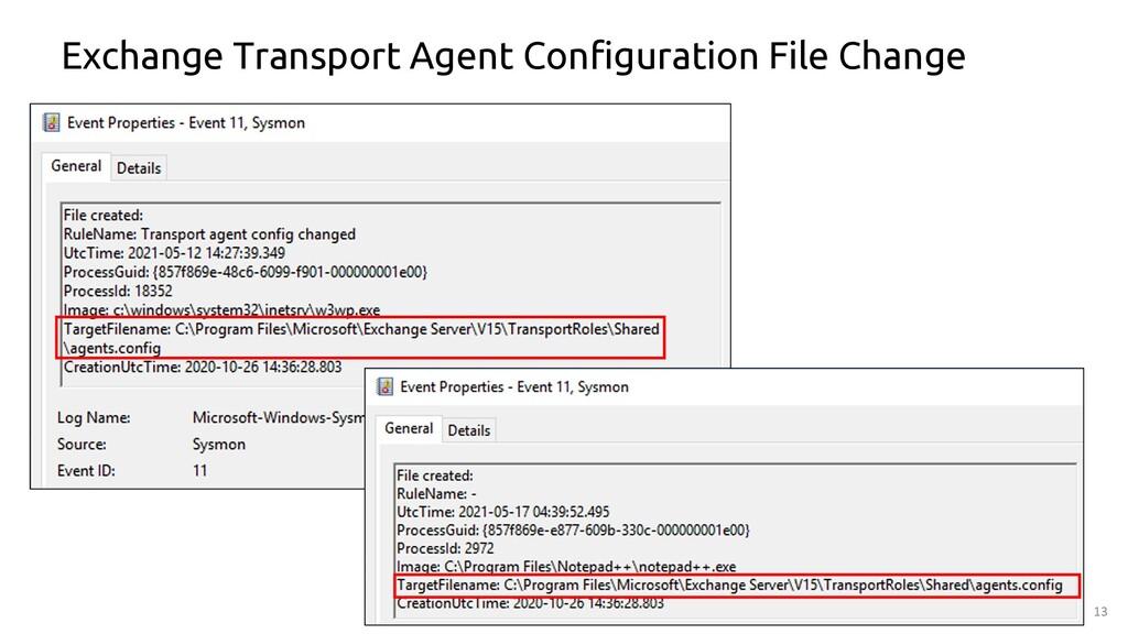 13 Exchange Transport Agent Configuration File ...