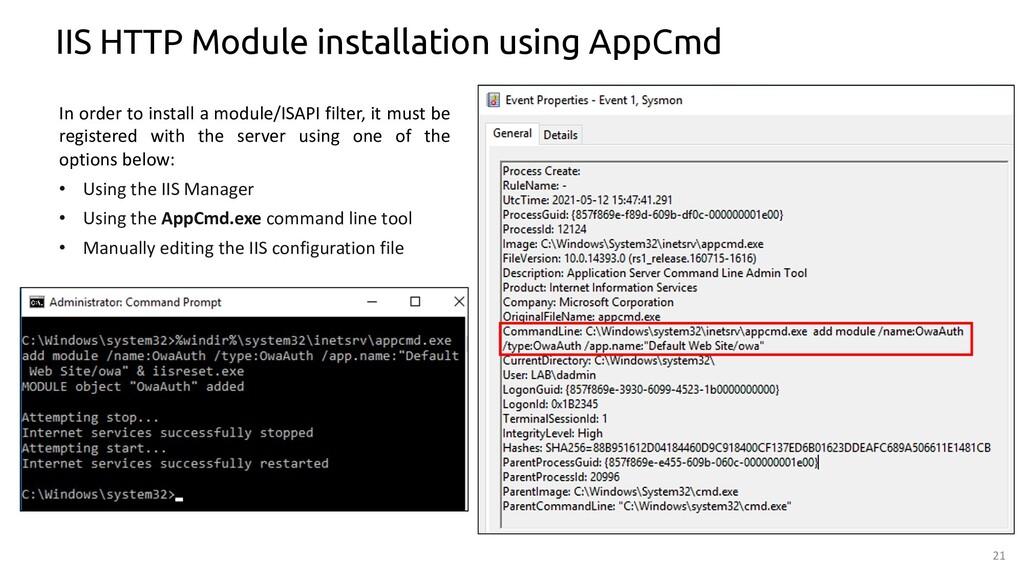 21 IIS HTTP Module installation using AppCmd In...