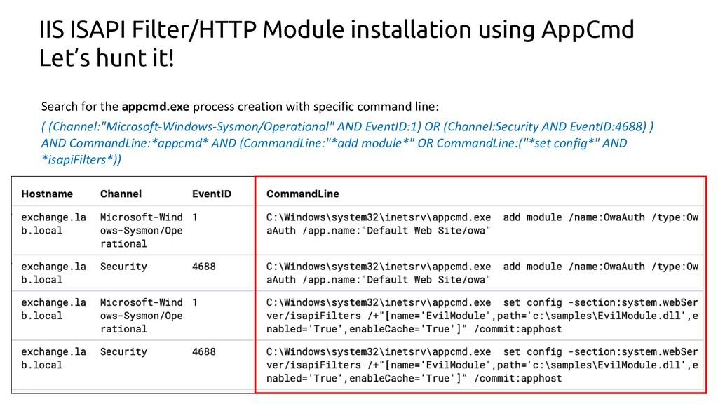 23 IIS ISAPI Filter/HTTP Module installation us...