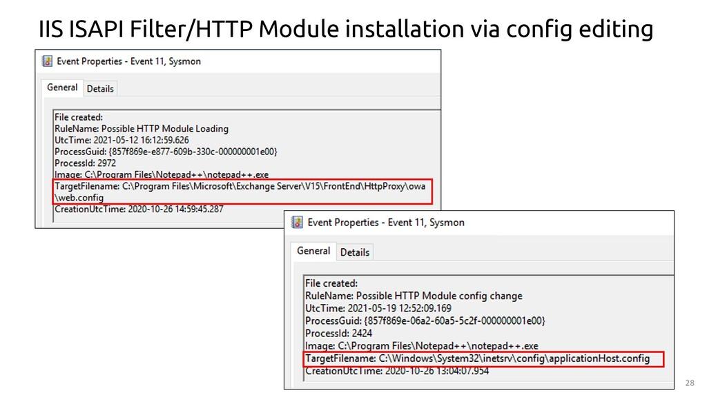 28 IIS ISAPI Filter/HTTP Module installation vi...