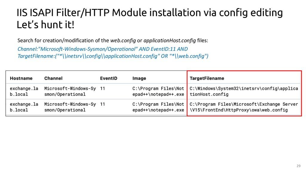 29 IIS ISAPI Filter/HTTP Module installation vi...