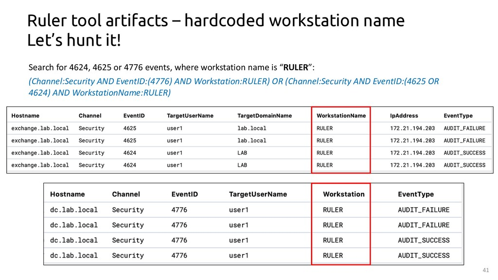 41 Ruler tool artifacts – hardcoded workstation...