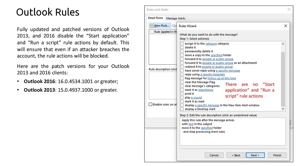 44 Outlook Rules Fully updated and patched vers...