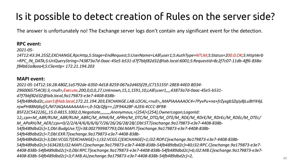 49 Is it possible to detect creation of Rules o...